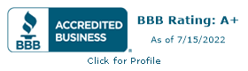 better business bureau logo A+ rating